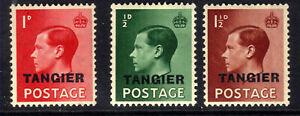 Morocco Agencies Tangier 1936 KEV11 Set Ovpt Tangier MM SG 241 - 243 ( H113 )