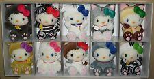 Hello Kitty Cat Collection Mini Plush Dolls set Lot of 10 NIB Sanrio 2004