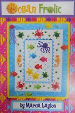 Patchwork Quilt Pattern Templates - Sea Ocean Beach Seaside Fish Seahorse Turtle
