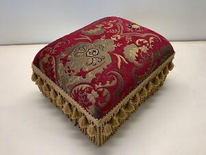 Fridge Chenille Tapestry fabric foot stool