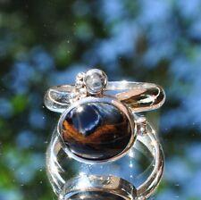 Pietersit Ring, 925er Silber, Edelsteinring (20747), mit Mondstein