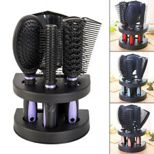 5Pcs Hair Brush Comb Sets Ladies Massage Holder Set With Mirror & Stand AU