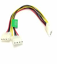 LOT 100x New-6-inch-Computer-Molex-4-Pin-Power-Supply-Y-Splitter-Cable