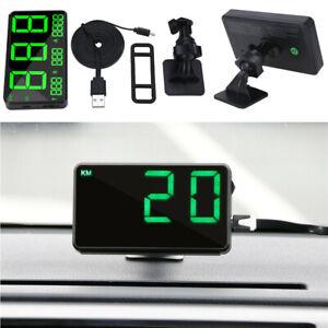 Digital HUD GPS Speedometer Speed Display KM/h MPH Gauge For Motorcycle Car SUV