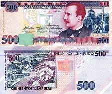HONDURAS 500 Lempiras Banknote World Paper Money UNC Currency Pick p-78g Bill