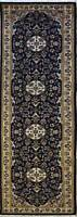 Rugstc 2.5x10 Senneh Pak Persian Blue Runner Rug, Hand-Knotted,Floral with Wool