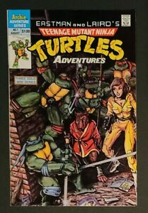 TEENAGE MUTANT NINJA TURTLES ADVENTURES #1 VF+ key issue ~ 1988 1st print Archie