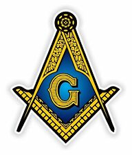 Masonic Sticker Freemason for Bumper Religious Car Locker Fridge Book Door #01