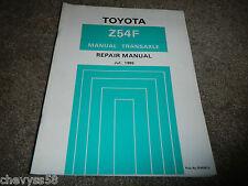85 86 TOYOTA Tercel Z54F TRANSAXLE 4wd TRANSMISSION REPAIR SERVICE SHOP MANUAL