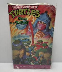 Retro Teenage Mutant Ninja Turtles Heroes In A Halfshell 5766 VHS Tape
