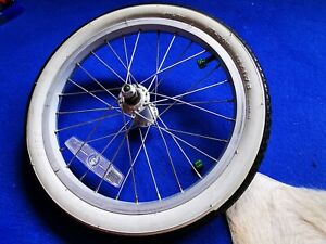 """Raleigh Chopper MK3 Front Wheel Fitted NOS Tyre 16"""" x 175 & Tube New Nuts"""