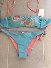 Emamo Appliqué Shimmer Bandeau Bikini IT46 BNWT