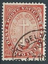 1933 VATICANO USATO ANNO SANTO 75 CENT - VN1
