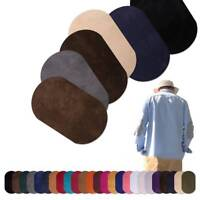 2Pcs Patches Sewing Applique Iron-on Elbow Knee DIY Applique Suede Leather Patch