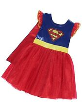 George Girls Supergirl Costume Fancy Dress 5-6y