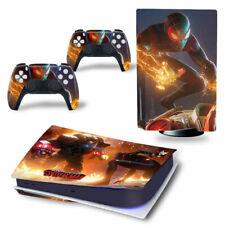 PS5 Disc Edition Skin Decal Sticker -Spiderman Custom Design 15 - FREE P&P