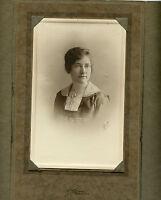 Antique Photo in Folder - Denver, Colorado - Close Up Young Lady, Nast Studio