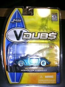 Jada Lot x 3-49 VW Hebmuller Conv w/ Surfboard+47 Ford COE Flatbed+47 Ford 7UP