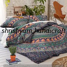 Mandala Indian Cotton Queen Bed Quilt Duvet Cover Blanket Doona Cover Ethnic Art