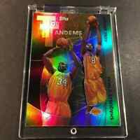 KOBE BRYANT / SHAQUILLE O'NEAL 2002 TOPPS TANDEMS HOLO REFRACTOR INSERT LAKERS