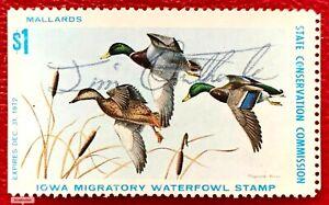 1972 Iowa State Duck Stamp IA-1  CV:$195