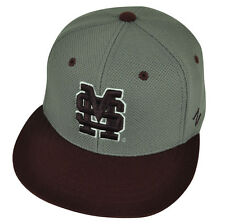 NCAA Mississippi State Bulldogs Zephyr Flat Bill Hat Cap Fitted Youth Two Tone