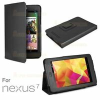 Asus Google Nexus 7 PU Leather Stand Case Cover 1 Gen 2012 Black Interior