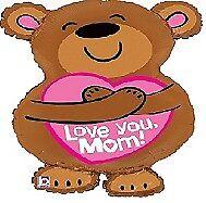 "Happy Mother's Day Balloons Party Ware Decoration Helium Mum Mummy Mother 28"" Mom Teddybear Big Hug Foil Balloon"