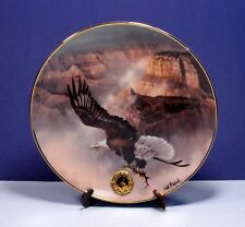 "Franklin Mint Alaskan Chilkat Eagle Preserve Plate ""Grand Sovereign"" - Signed"