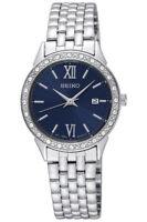 Seiko Women's Watch Swarovski Elements Date Stainless Steel 28mm sur691p1 Quartz