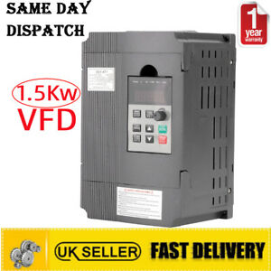1.5Kw Variable Frequency Drive Inverter CNC Motor Speed VFD Single To 3 Phase
