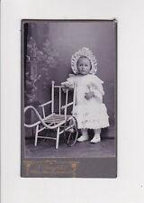 photographie cdv bébé fillette poussette voiture J JUNGBLUT METZ carte de visite