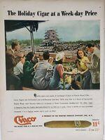 Lot of 2 Vintage 1947 Cinco Cigar Print Ads Week-day Price