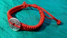 Luck, Protection Feng Shui Red Adjustable Bracelet Fixed I-Ching Chinese Coin j8