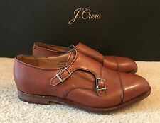 ALFRED SARGENT FOR JCREW DOUBLE MONK STRAP SHOES SIZE 11,5M MAHOGANY 02801 $525