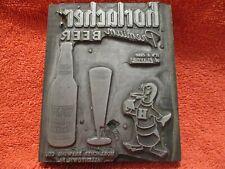 Vintage Horlachers Premium Beer wooden Advertising Printing Block