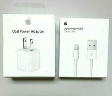 APPLE 5W USB Wall Charger Cube Power Adapter Plug +Cable iPhone 6 7 8 X XR XS 11