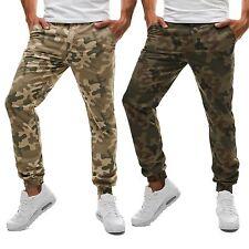 Bequem sitzende unifarbene Herrenhosen aus Baumwollmischung mit regular Länge