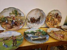 1982 Royal Cornwall Rosemary Calder Collectors Plates Memories Kf The Western.
