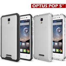 "Shockproof Hybrid Protective Case TPU Trim Bumper For Optus 4G ALCATEL POP 5"""