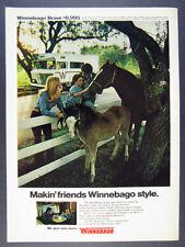 1973 Winnebago Brave D-18 RV Motorhome color photo vintage print Ad