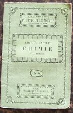 Biblio. PHILIPPART vers 1860 CHIMIE simple facile M. E. BEDE illustré BE 5e éd.