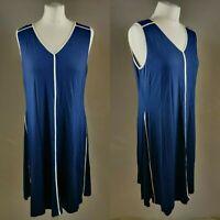 Peter Hahn Women's Dress UK 14 EU 42 Blue A line Sleevless  Formal Casual NEW