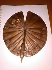 Solid Bronze Lilypad Sundial Frog Paperweight Roman Numerals white swan
