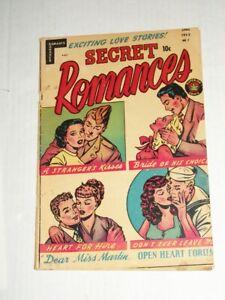Superior Comics SECRET ROMANCES #7 (1952) Pre-Code, Sailor Mike, Miss Martin