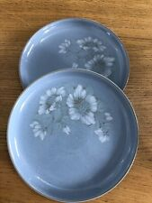 Denby pottery Blue Dawn dinner plates x 2 in good used condition