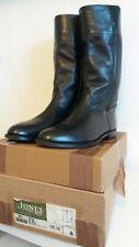 Mens black riding military boots - Jones bootmaker size 8 - fantastic condition