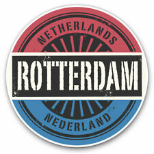 2 x Vinyl Stickers 30cm - Rotterdam Netherlands Nederland Flag Cool Gift #6048