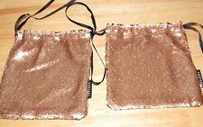 x 2 Sephora Rose Gold Silver Sequin Bag Clutch Handbag Metallic Mermaid Bags