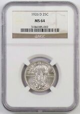 1926-D Standing Liberty Quarter : NGC MS64